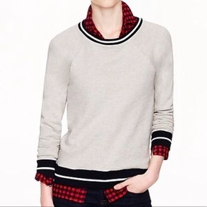 LAST CHANCE‼️FREE- J.CREW Tipped Collar Sweatshirt